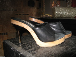 Fredericks's of Hollywood Polly Pollys slides mules shoes pinup VLV 6.5 UK4 36.5 image 1