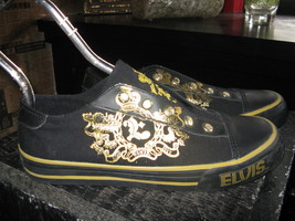 Elvis Presley 1977 skate sneakers slip-on shoes mens 5 UK4.5 38 chicks 7 VLV - $131.12