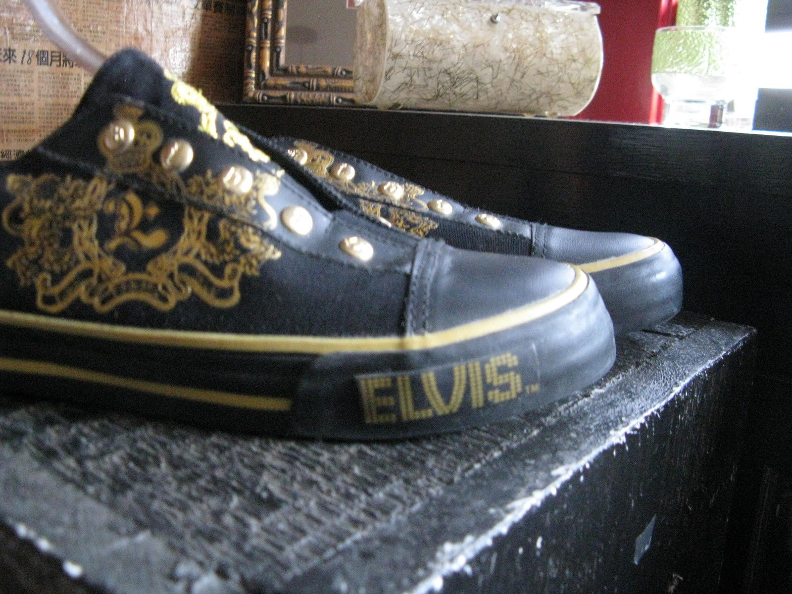 Elvis Presley 1977 skate sneakers slip-on shoes mens 5 UK4.5 38 chicks 7 VLV