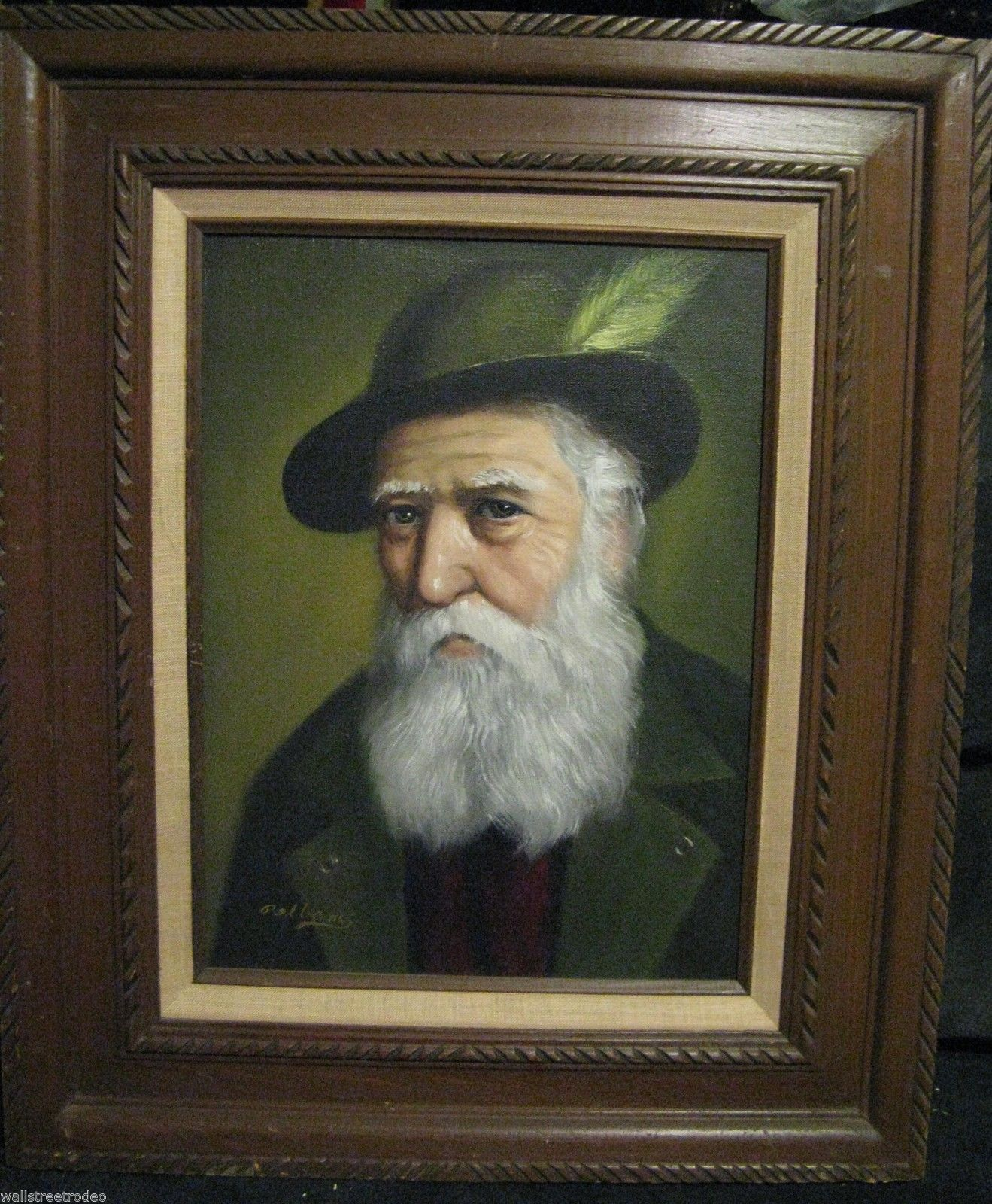 David Pelbam Bavarian Alpine European old man with hat portrait oil painting