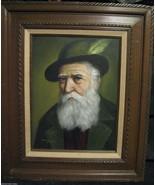 David Pelbam Bavarian Alpine European old man with hat portrait oil pain... - $741.85