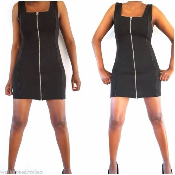 Alexander Wang Zip front leather trim club dress Small image 2