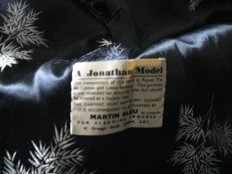 vintage faux Persian curly lamb coat mink collar VLV image 4