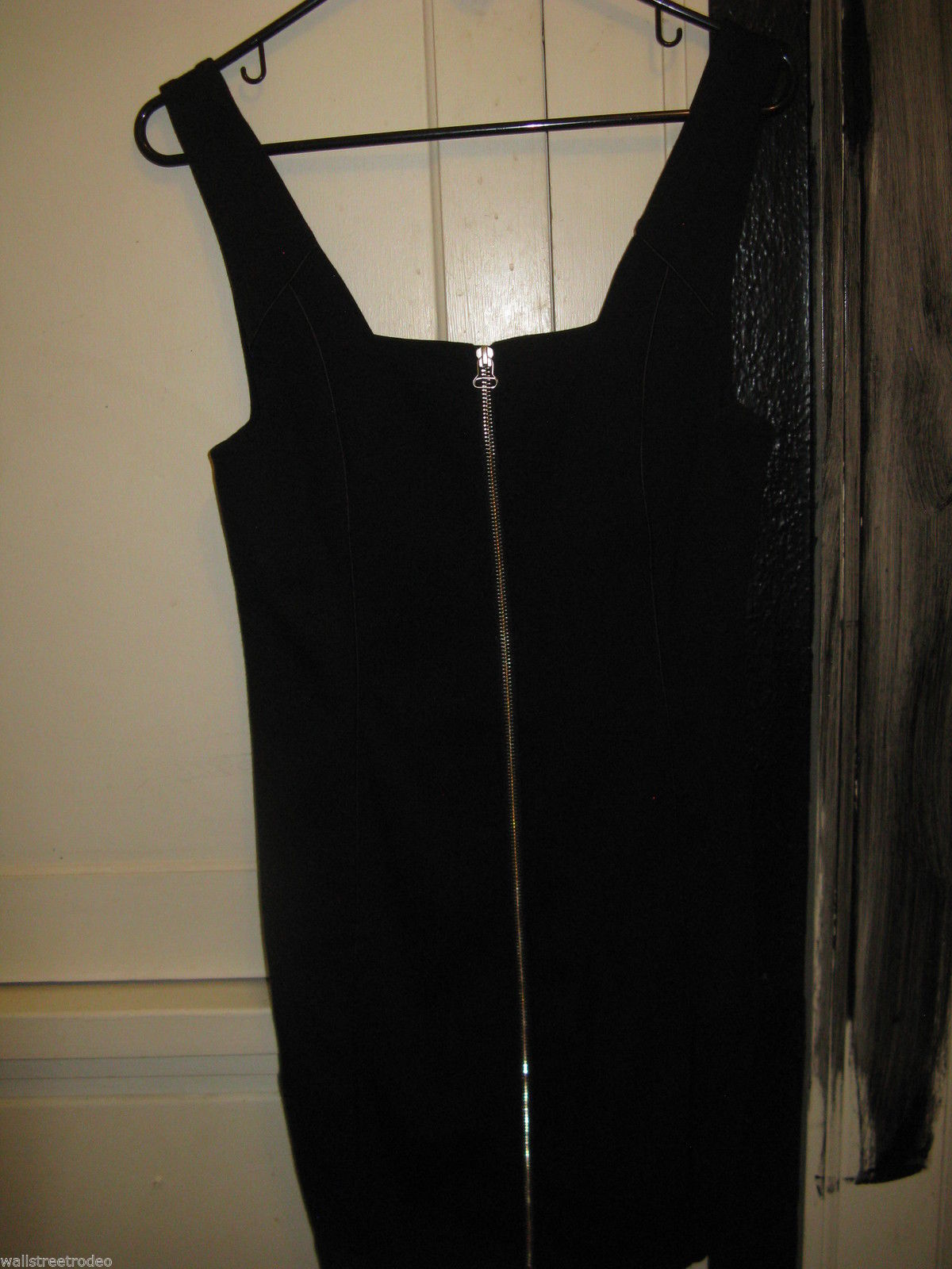 Alexander Wang Zip front leather trim club dress Small image 4