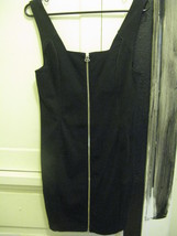 Alexander Wang Zip front leather trim club dress Small image 3
