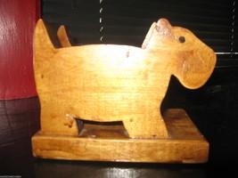 Vintage Handmade wood wooden scottie westie terrier dog letter napkin holder VLV image 1