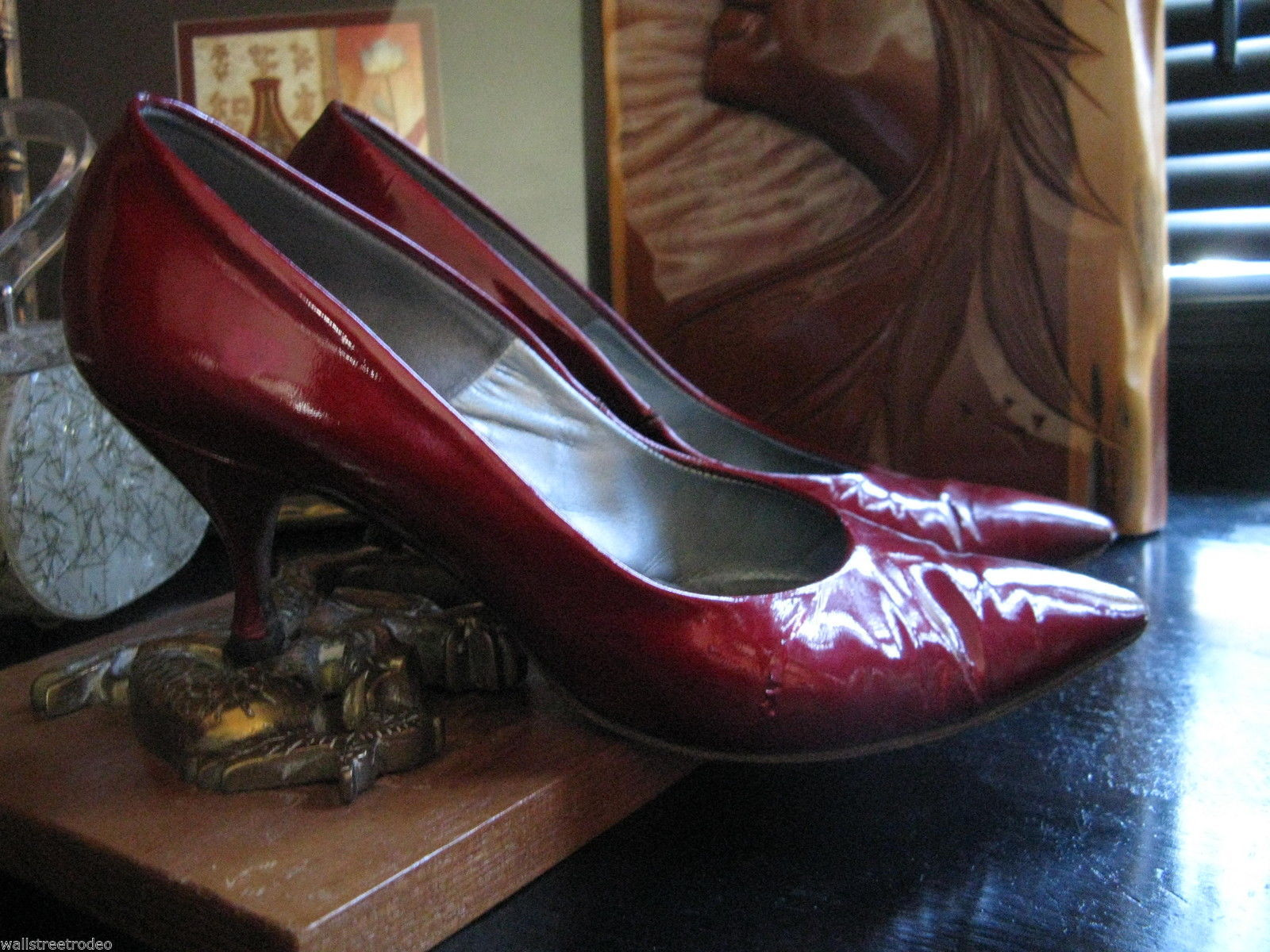 Smartaire vintage Debbie Renolds heels shoes 7 1/2 AAAA VLV 6 UK3.5 36 bonus VLV image 8