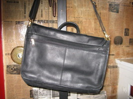 Ellington Portland classic biker leather briefcase image 3