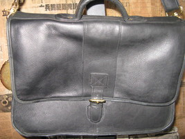 Ellington Portland classic biker leather briefcase image 2