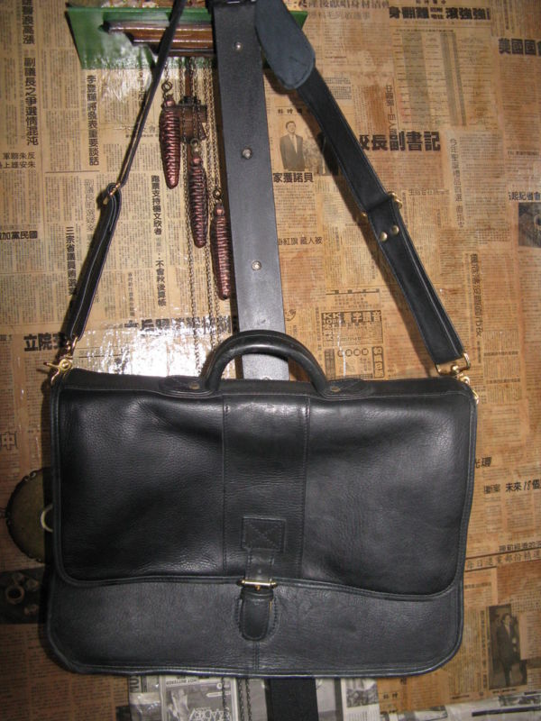 Ellington Portland classic biker leather briefcase