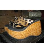 Vintage basket weave Tiki Oasis platform wedge sandals shoes VLV 6.5 UK5... - $82.87