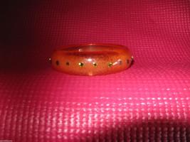 Tarina Tarantino Swarovski crystals lucite orange bubble bangle bracelet image 1