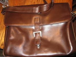 Ellington Portland Belmont classic travel vintage brown leather briefcase as-is image 3