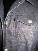 Halogen Nordstrom metallic denim jeans levi jacket M image 2