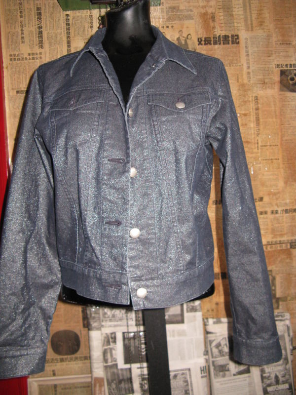 Halogen Nordstrom metallic denim jeans levi jacket M