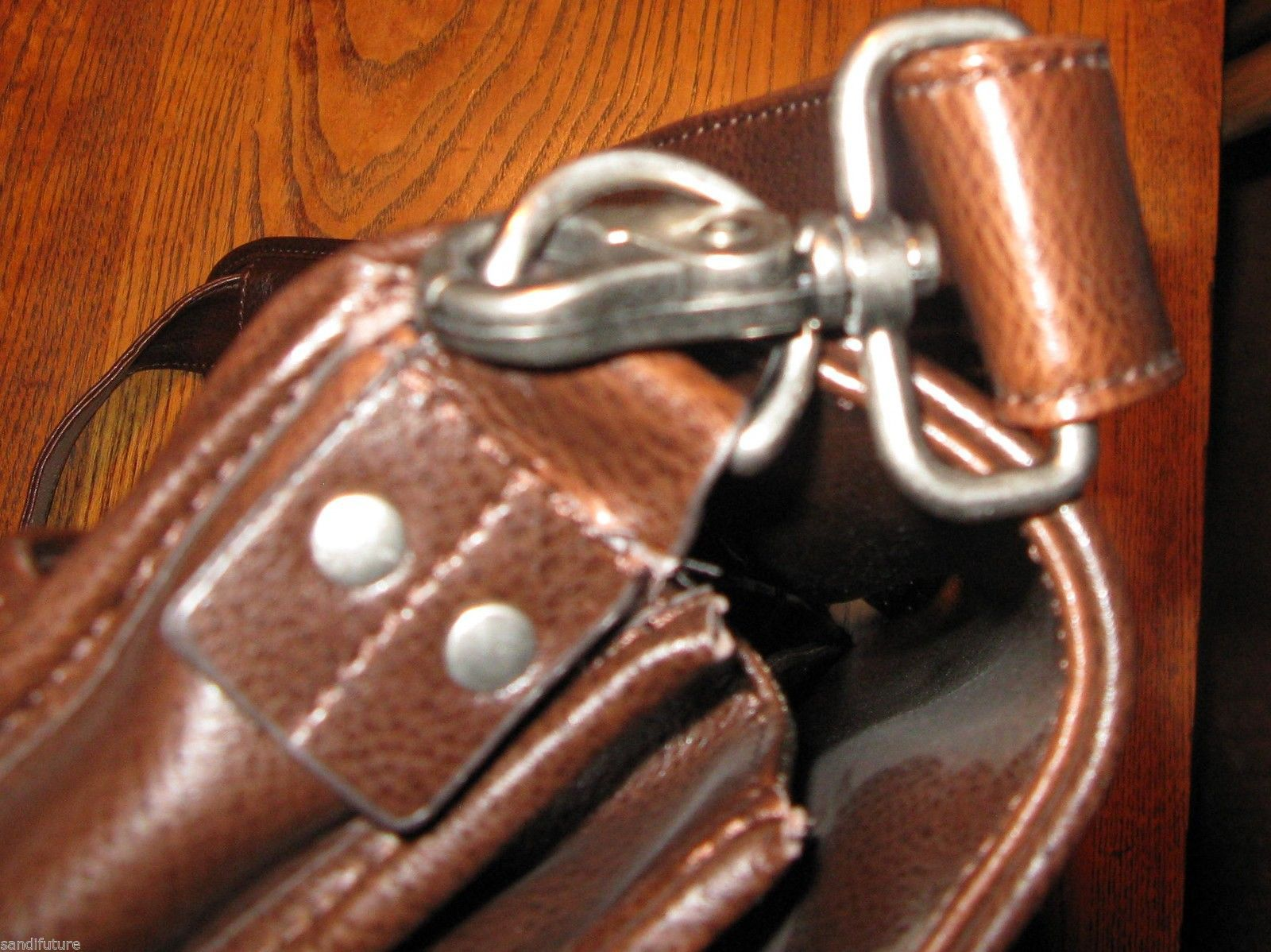 Ellington Portland Belmont classic travel vintage brown leather briefcase as-is image 4