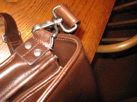 Ellington Portland Belmont classic travel vintage brown leather briefcase as-is image 5