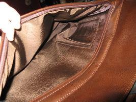 Ellington Portland Belmont classic travel vintage brown leather briefcase as-is image 7