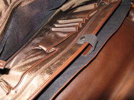 Ellington Portland Belmont classic travel vintage brown leather briefcase as-is image 6