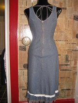 Hot Kiss 70s pin-up boho denim jeans wiggle dress VLV XS 1 image 4