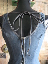 Hot Kiss 70s pin-up boho denim jeans wiggle dress VLV XS 1 image 3