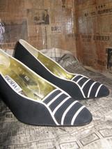 Escada 80s file leather naval heels shoes 6 UK4 36 image 1
