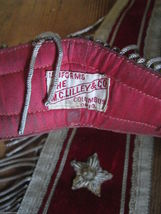 Antique 1890s Odd Fellows Ceremonial Ritual Collar M C Lilley pair red velvet image 2