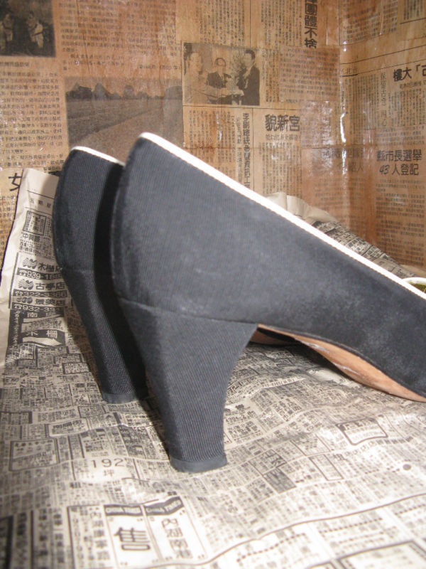 Escada 80s file leather naval heels shoes 6 UK4 36 image 3