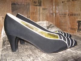 Escada 80s file leather naval heels shoes 6 UK4 36 image 4