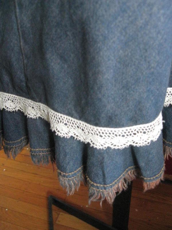 Hot Kiss 70s pin-up boho denim jeans wiggle dress VLV XS 1 image 6