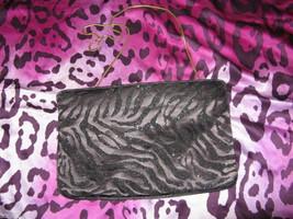 Vintage 80s glitter zebra disco clutch punk handbag image 1