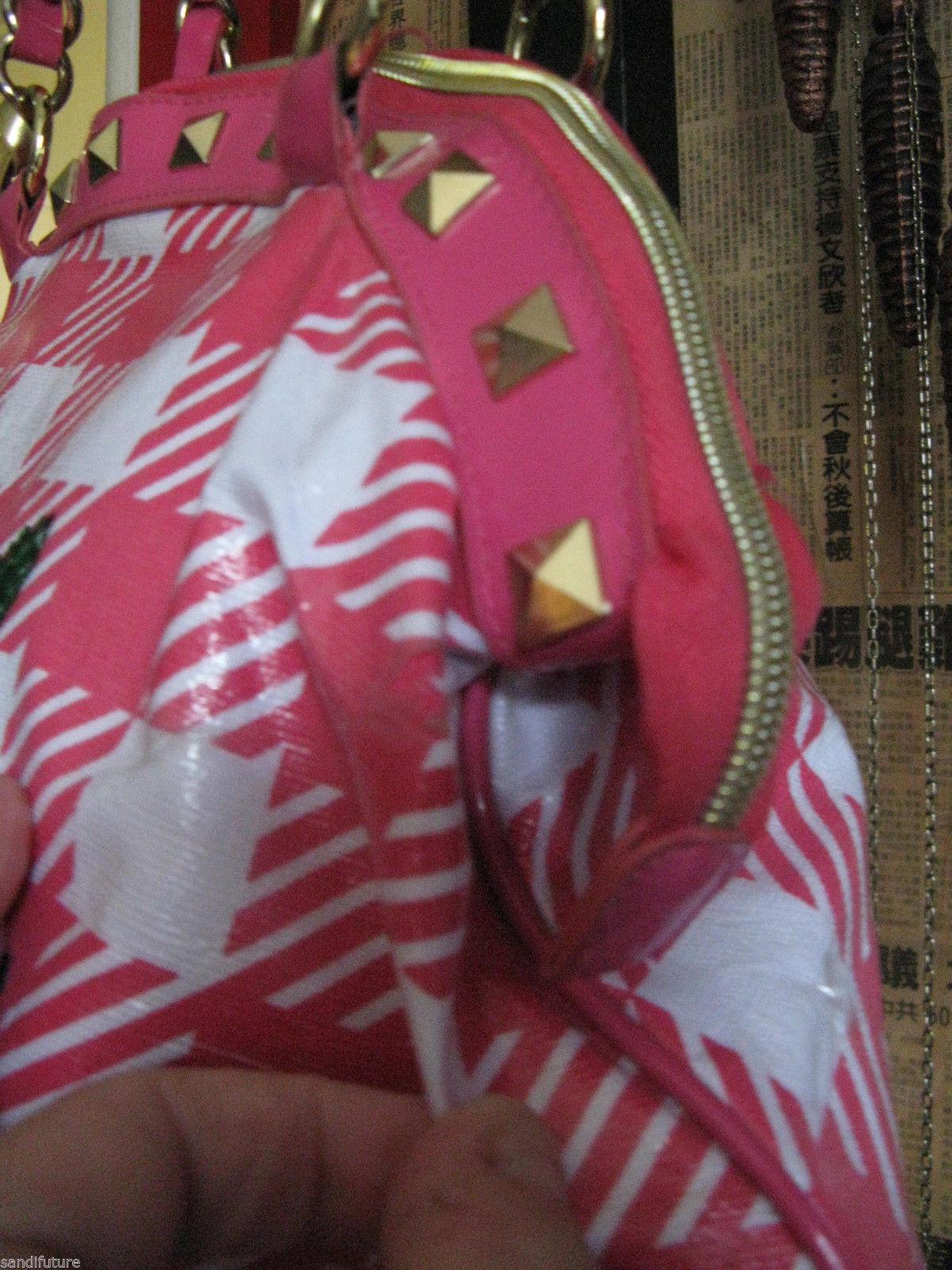 Betsey Johnson Betseyville Cherry Picker rockabilly gingham pin-up handbag VLV image 4