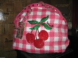 Betsey Johnson Betseyville Cherry Picker rockabilly gingham pin-up handbag VLV image 3