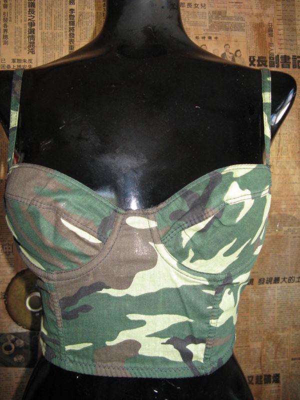 Deborah Marquit Designer camouflage bustier 32B