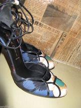 Casadei stiletto chrysanthemum pinup sling back shoes heels 6 UK3.5 36 image 5