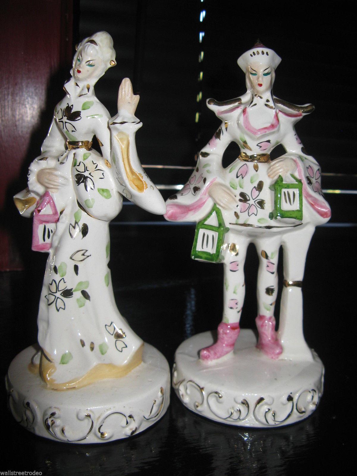 Vintage mid century european japan asian chinese figurines porcelain china VLV