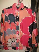 Vintage Emilio Pucci Saks fifth Avenue Iconic pop art silk 1960s Italy shirt 8 image 1