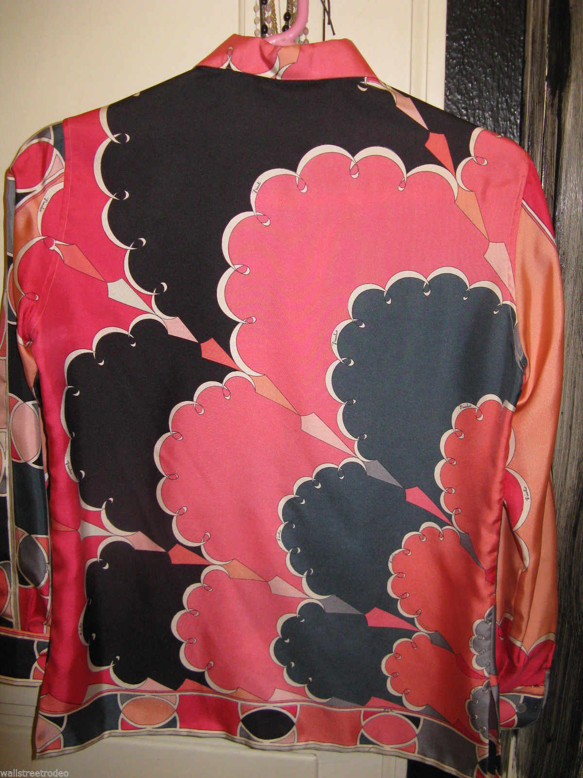 Vintage Emilio Pucci Saks fifth Avenue Iconic pop art silk 1960s Italy shirt 8 image 2