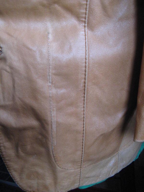 Vintage 70s leather hustler studio 54 disco jacket 40 image 2