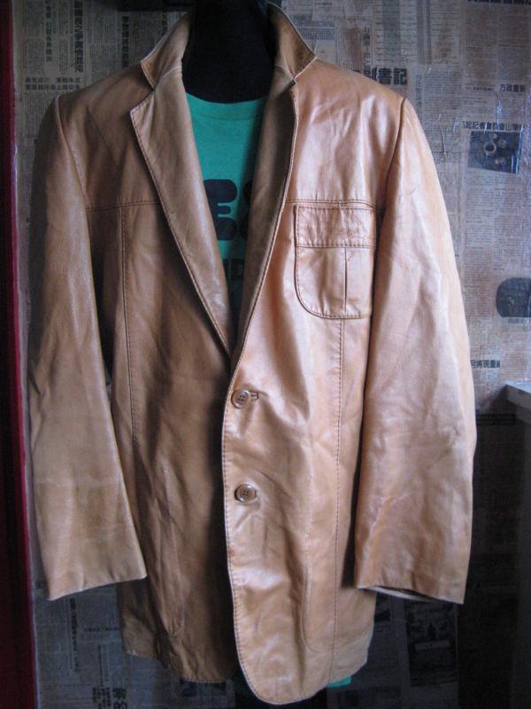 Vintage 70s leather hustler studio 54 disco jacket 40