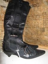Dior biker logo quilted butter leather motorcylce punk runway boots 6 36 UK3.5 image 2