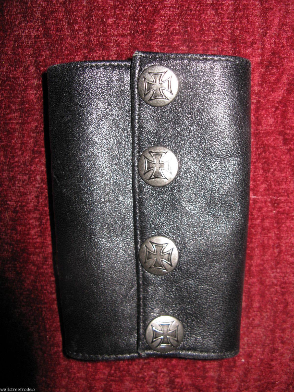Smakworks Lip Service Iron Maltese Cross leather wristband cuff bracelet XS image 3