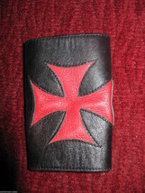 Smakworks Lip Service Iron Maltese Cross leather wristband cuff bracelet XS image 2