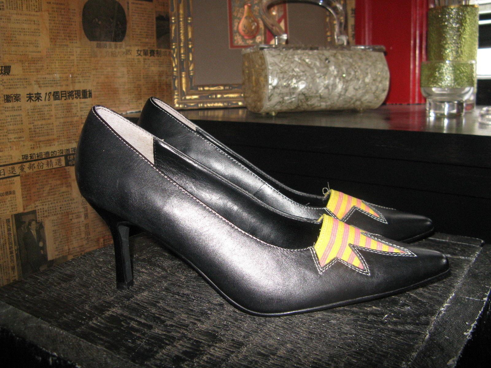 Extra-Fine Sugar punk grunge new wave lightning stiletto heels shoes 7 UK5 38 image 2