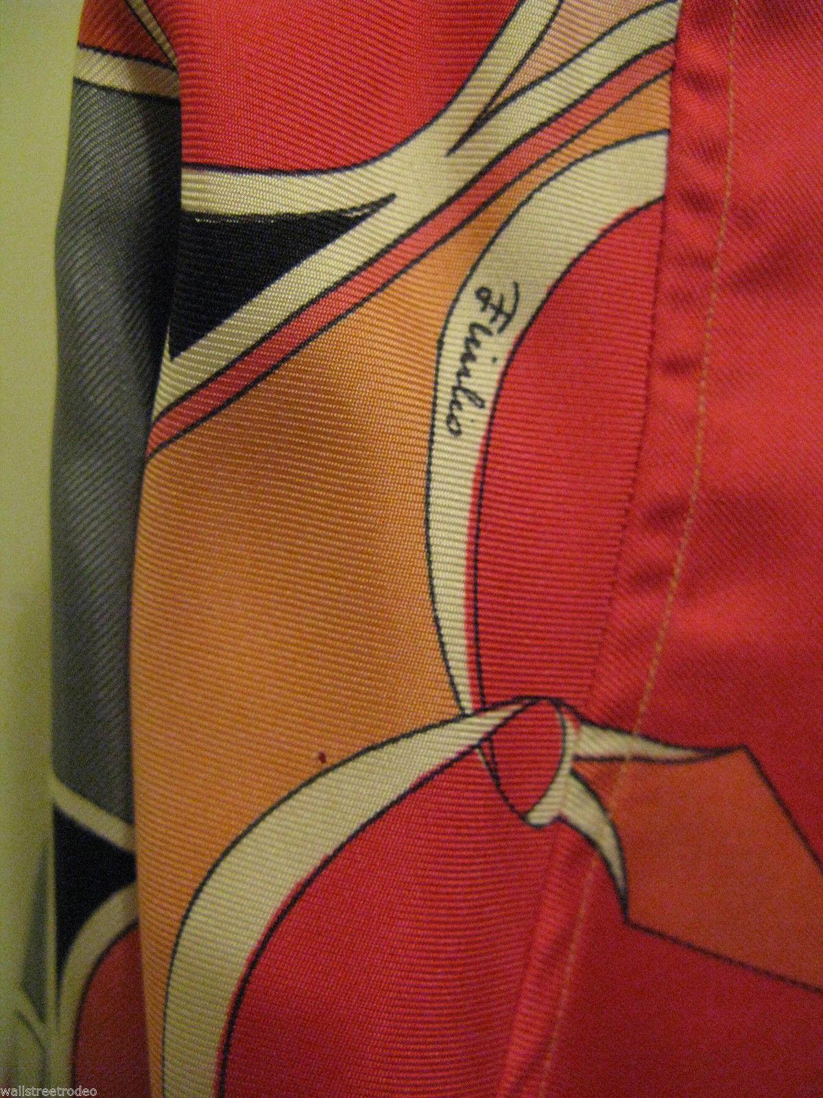 Vintage Emilio Pucci Saks fifth Avenue Iconic pop art silk 1960s Italy shirt 8 image 5