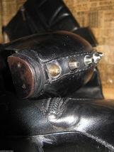 Dior biker logo quilted butter leather motorcylce punk runway boots 6 36 UK3.5 image 5