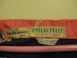 Vintage Emilio Pucci Saks fifth Avenue Iconic pop art silk 1960s Italy shirt 8 image 7