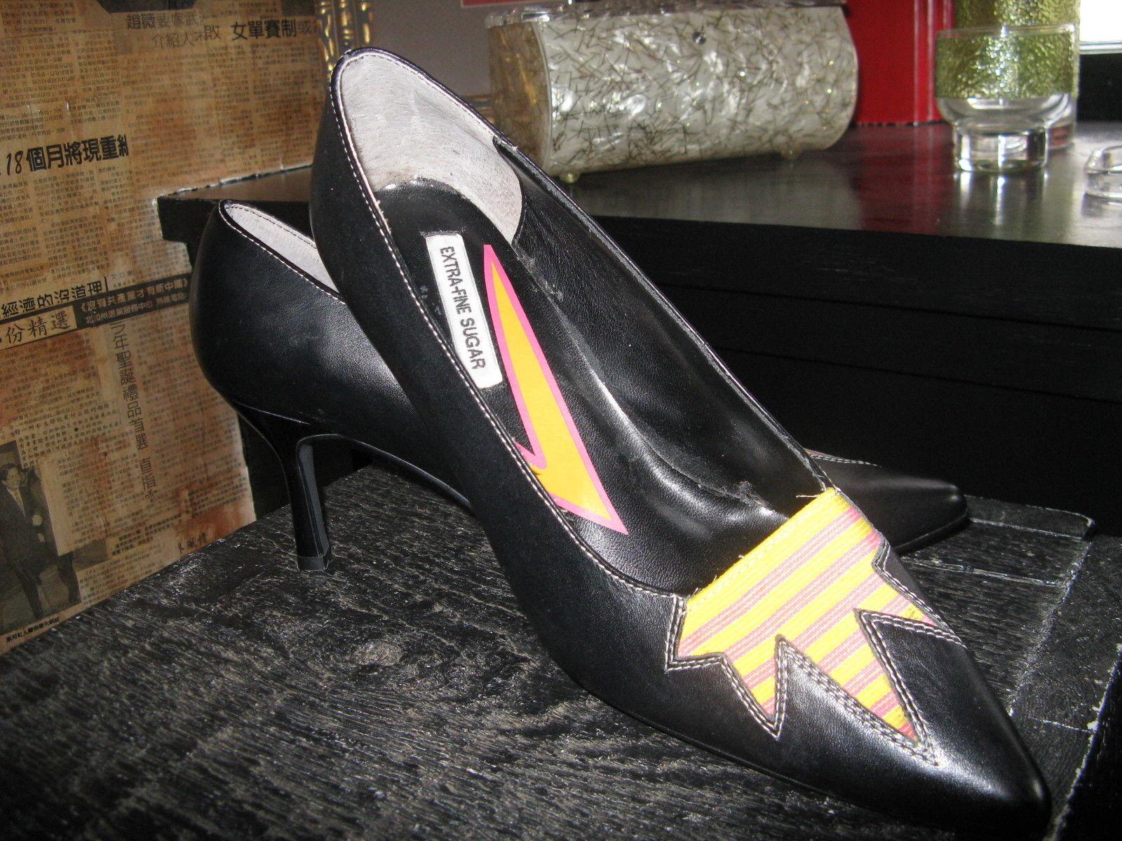 Extra-Fine Sugar punk grunge new wave lightning stiletto heels shoes 7 UK5 38