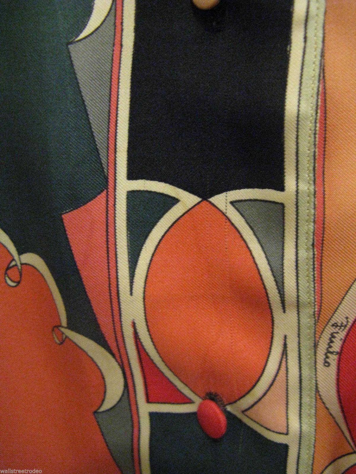 Vintage Emilio Pucci Saks fifth Avenue Iconic pop art silk 1960s Italy shirt 8 image 6