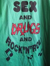 UZI NYC Sex Drugs Rock and Roll 24 Hour Catwalk punk t-shirt XXL image 1